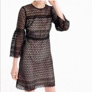 NWOT J.Crew black lace overlay dress!!